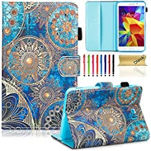 """T230nu Case, Tab 4 7.0 Case, Dteck(TM) Fashion Art Print Slim PU Leather Stand Case with Card Slots Magnetic Closure Protective Cover for Samsung Galaxy Tab 4 7.0"""" T230 /T231/ T235, Golden Flower"""