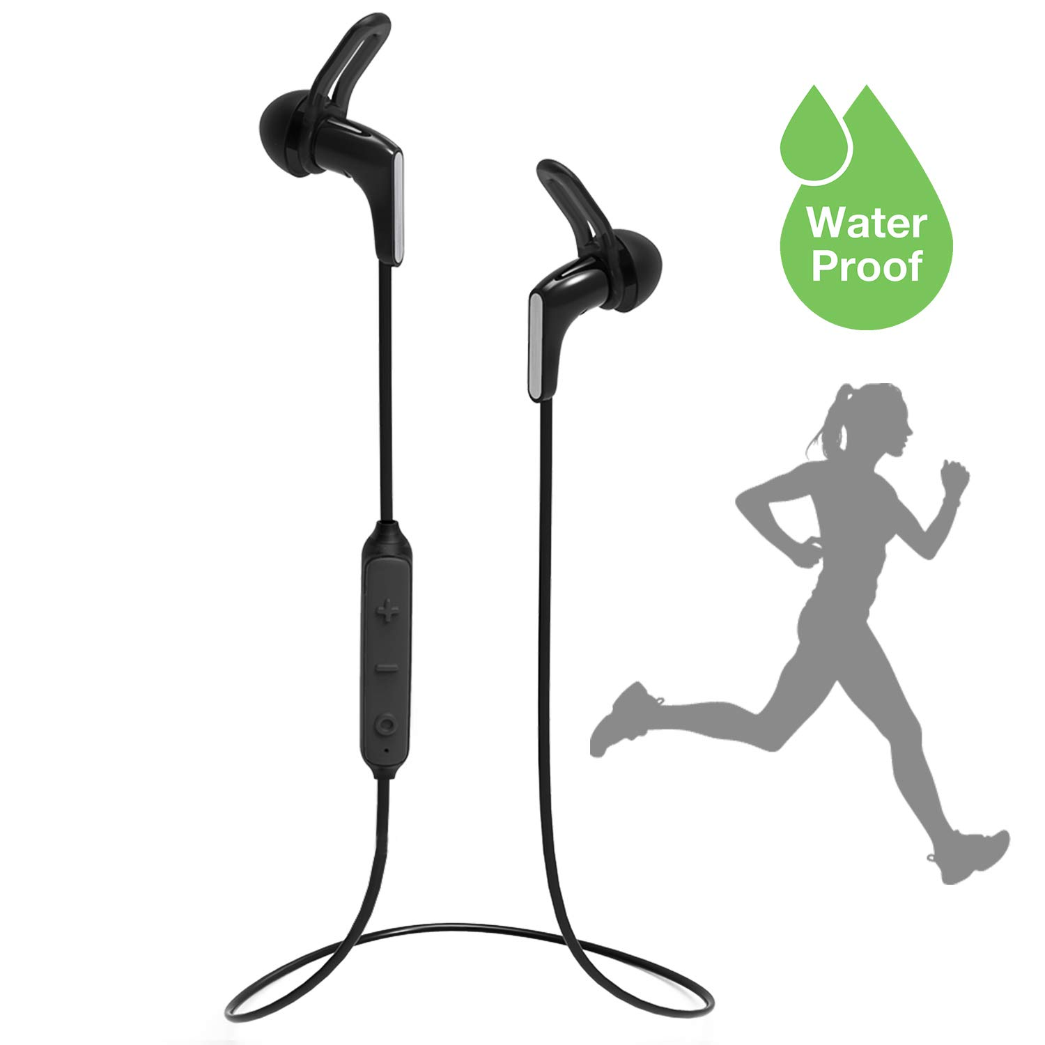 Avantree IPX7 Waterproof Bluetooth 5.0 Earbuds for Running Sports, SNUG Fit Super Light, Sweatproof Small Mini Headphones with Mic, Up to 13H Playtime for Workout Gym Cycling Hiking – HS134