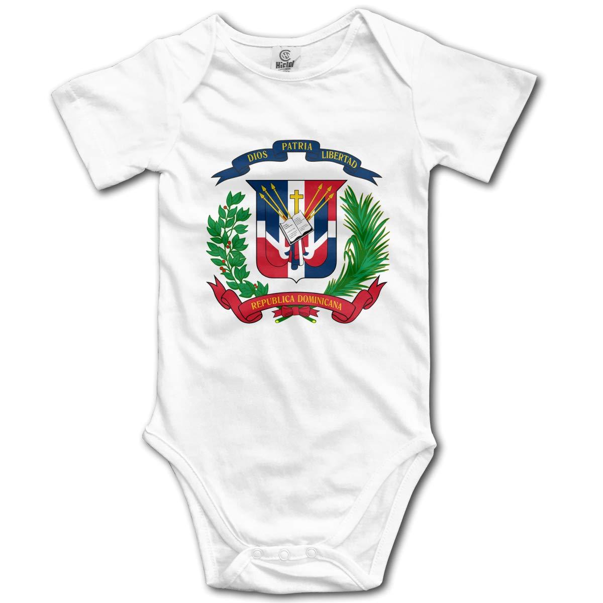 CDHL99 Dominican Republic Flag Infant Baby Boys Girls Short Sleeve Layette Bodysuit 0-24M