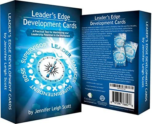 Leadership Development Cards –A Leadership Program for Corporate Management Based On Top Selling Leadership Books - It's The Manager, Atomic Habits, Leaders Eat Last, Dare to Lead, Principles, Leader