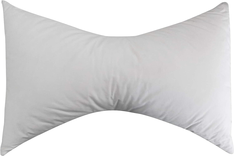 Pikolin Home - Almohada mariposa de fibra, transpirable y desenfundable, 40x60cm, color blanco. (Todas las medidas)
