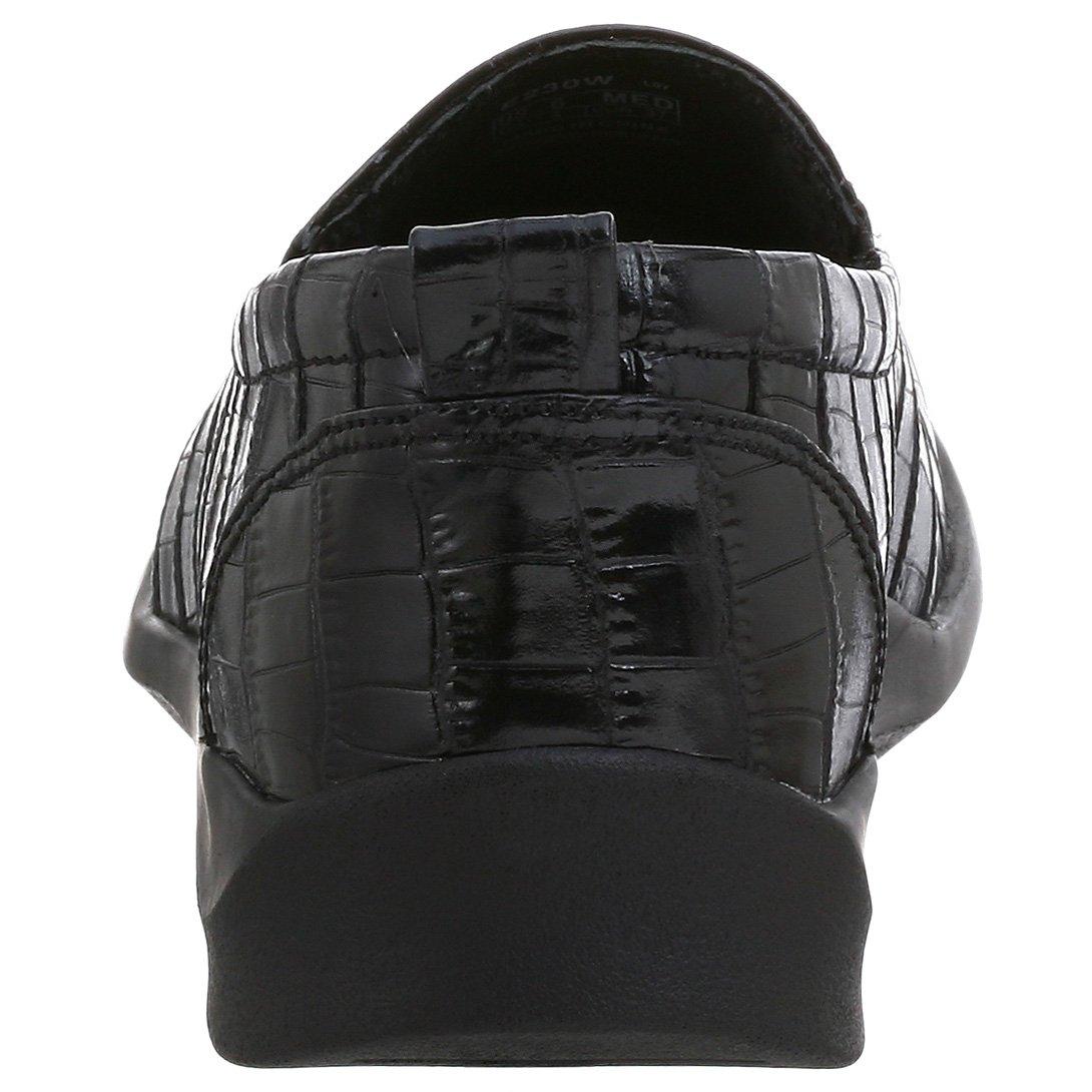 Aetrex Women's E220 Rosalynn Leather Slip-on B0018MIZV0 6.5 B(M) US|Black Crocco