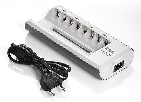EBL Chargeur de Piles 8 Slots est conçu pour AAAAA NI MHNI CD Piles Rechargeables