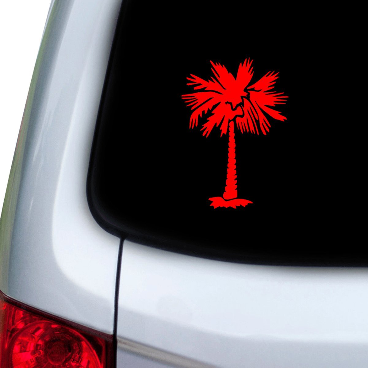 StickAny Car and Auto Decal Series Fun Palm Tree Sticker for Windows Hoods Doors Red