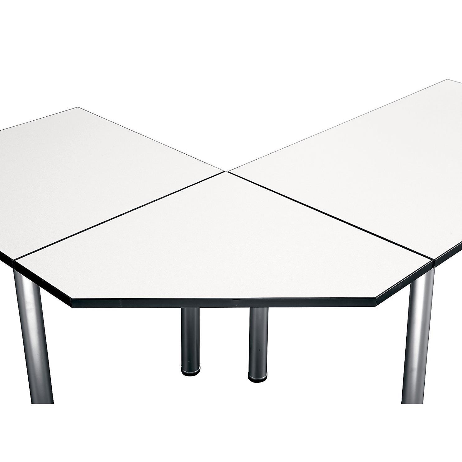 Bush Business Furniture Aspen Tables 28-1/2W Corner Connector in White Spectrum