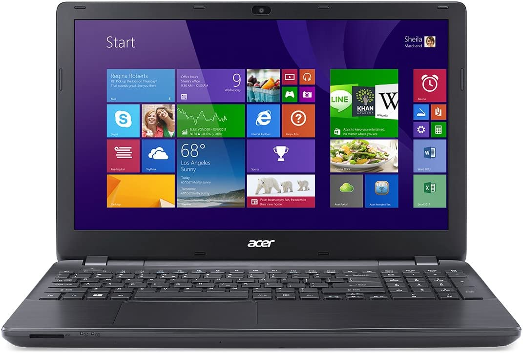 "Acer Aspire E5-571-588M 15.6"" Notebook Computer, Intel Core i5-4210U 1.7GHz, 4GB RAM, 500GB HDD, Windows 8.1, Midnight Black"