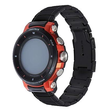 Amazon.com: Correa de reloj de acero inoxidable macizo ...