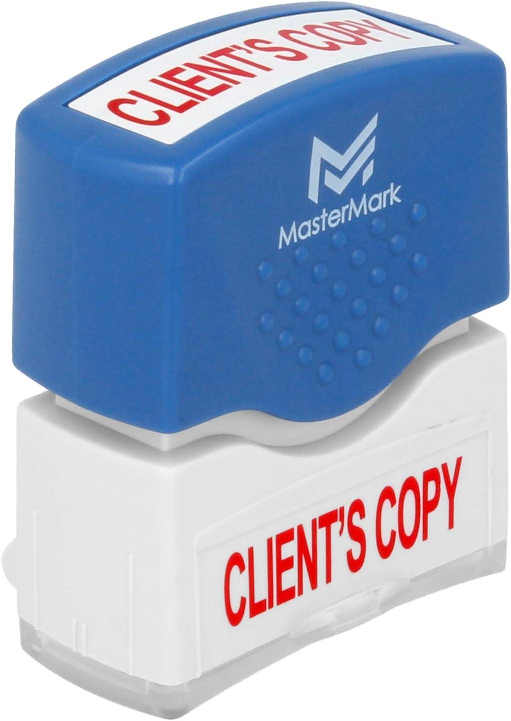 Client's Copy Stamp – MasterMark Premium Pre-Inked Office Stamp
