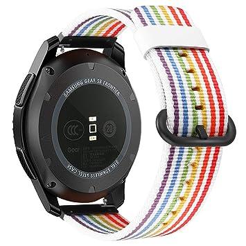 Fintie Correa para Samsung Galaxy Watch 46mm / Gear S3 Frontier / Gear S3 Classic / Huawei Watch GT - 22mm Pulsera de Repuesto de Nylon Tejido Banda ...