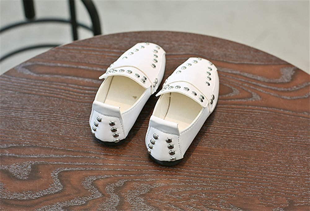 Fancyww Girl Kids Dress Ballet Flat Princess Outdoor Rivet Leather Shoes Toddler//Little Kid