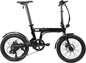 48V 10.4A Battery G-Force Electric Bike T12 350W brushless Motor 20 Folding Shimano 7 Speeds Handlebar Height Adjustable Electric Bike for Adults. max Range 30 Miles max Speed 20MPH