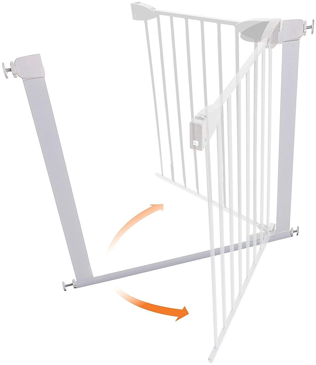 ALLAIBB Walk Thru Metal Baby Gate Pressure Mount Kit Auto Close Child Safety Gate Size 81.89''-84.65'' (White) by ALLAIBB (Image #3)