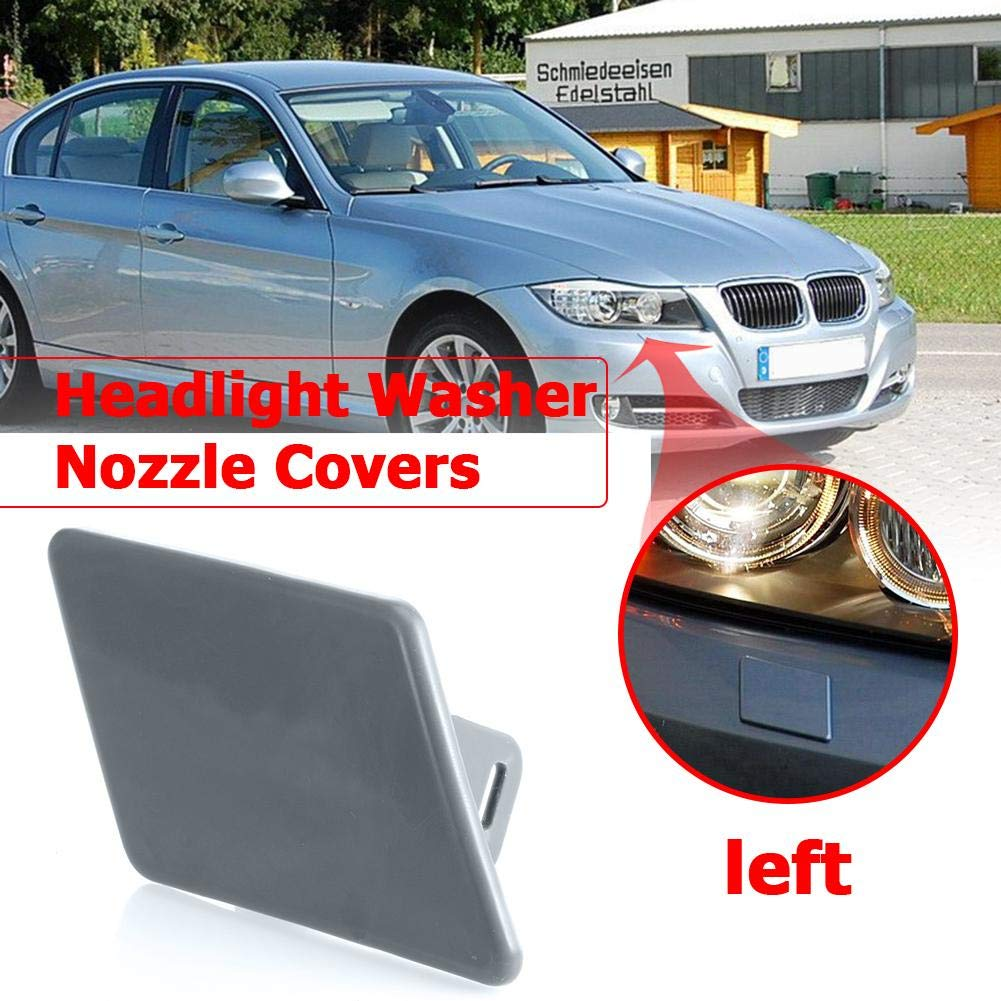 Widewing Headlight Washer Nozzle Cover Cap for BMW 3 Series E90 323i 328i 335i M3 E91 328i 328xi Left