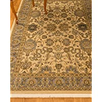 Natural Area Rugs Beaufort Vintage Oriental Rug, 6 x 9, Non Slip Rug Pad Included