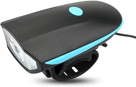 AcTopp Timbre para Bicicleta+LED Faro Delantero/Foco Frontal de ...