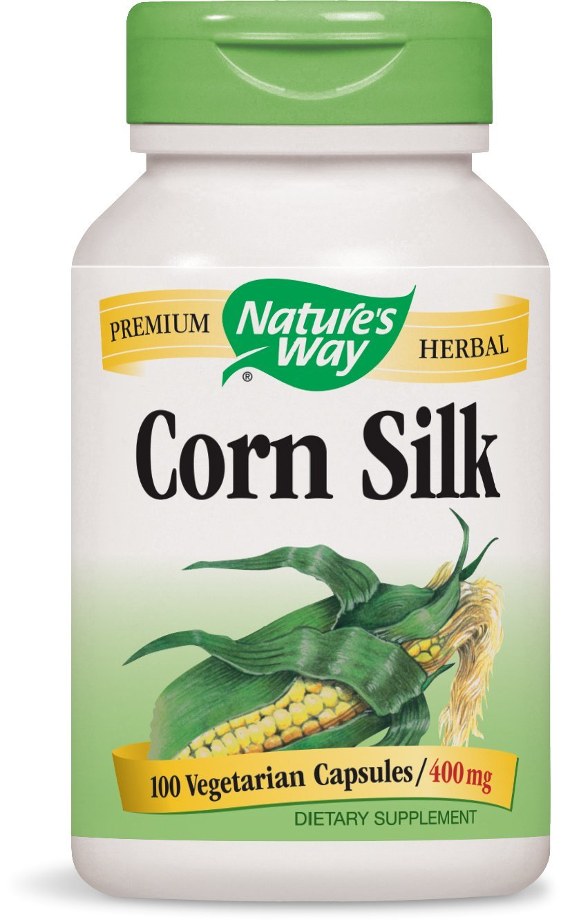 Nature's Way Premium Herbal Corn Silk 1,200 mg, 100 Vegetarian Capsules, Pack of 3 by Nature's Way