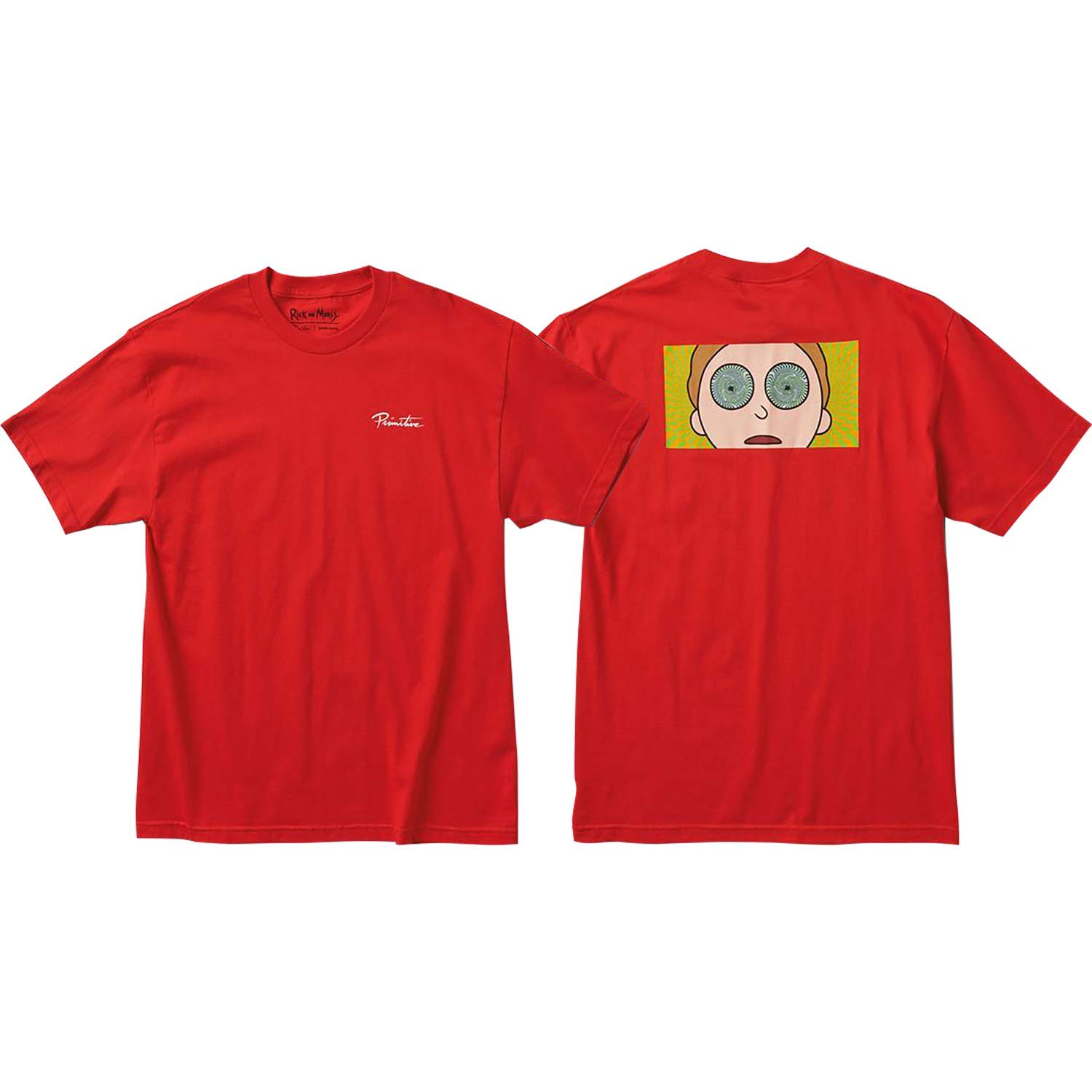 Primitive R&M Morty Hypno Eyes T-Shirt - Size: Small Red