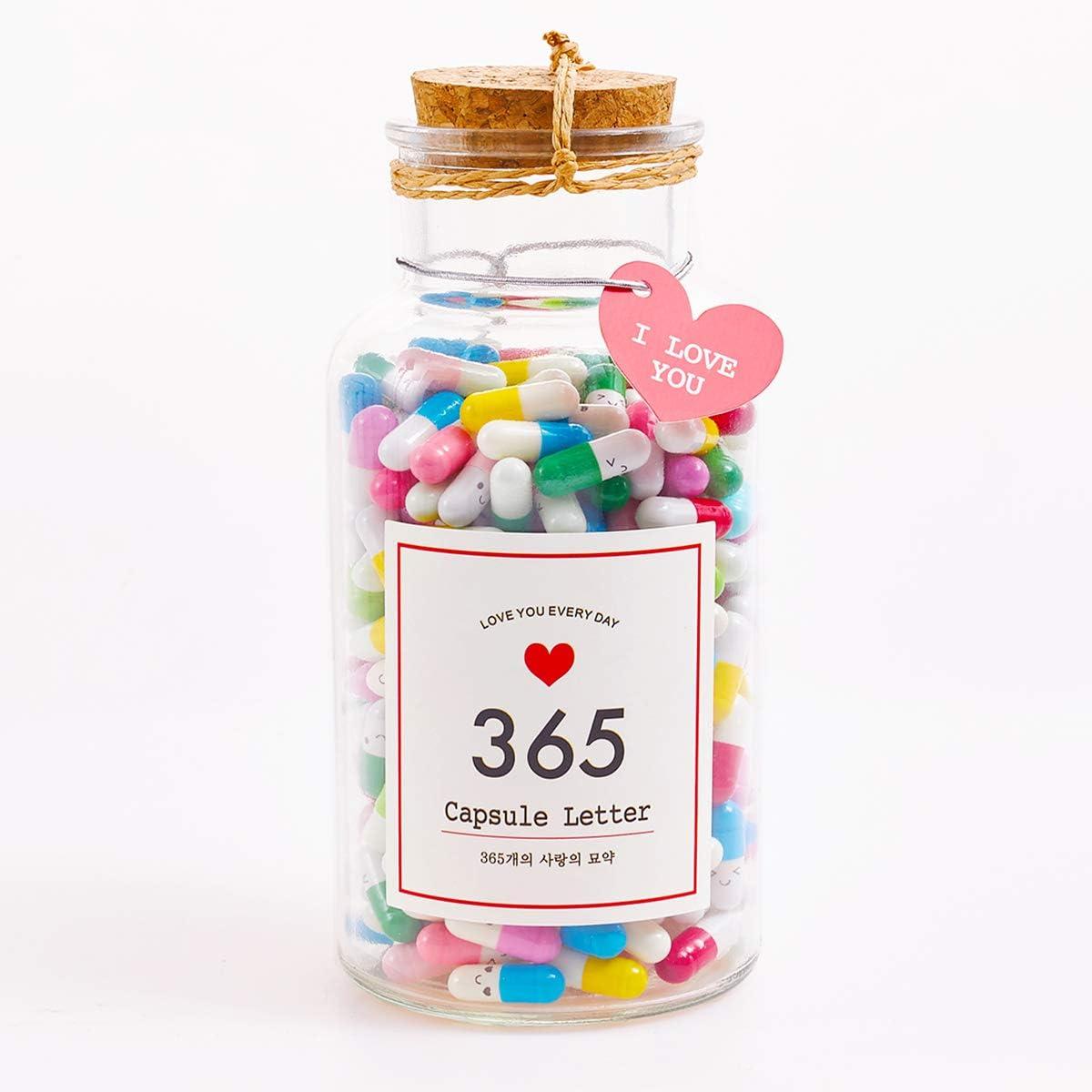 365 Pcs Gift For Boyfriend In A Bottle Capsule Letter Message Pill Love Letter For Boyfriend Or Girlfriend Assorted Colours Amazon De Baumarkt
