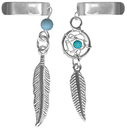 Dream Catcher Ear Cuff Amazon ASet of Two Feather Ear CuffsOne Dream Catcher and 15