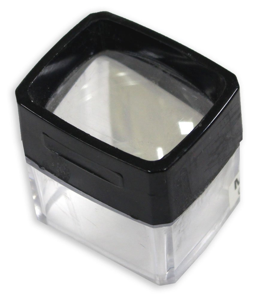 2.25 X 1 7/8 Dome Style 2.75X Power Printer's Magnifier With Clear Plastic Side Panels : ( Pack of 18 Pcs. ) Computers, Electronics, Office Supplies, Computing
