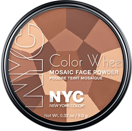New York Color Wheel Mosaic Face Powder, All Over Bronze Glow, 0.32 Ounce - Glass Mosaic Blends