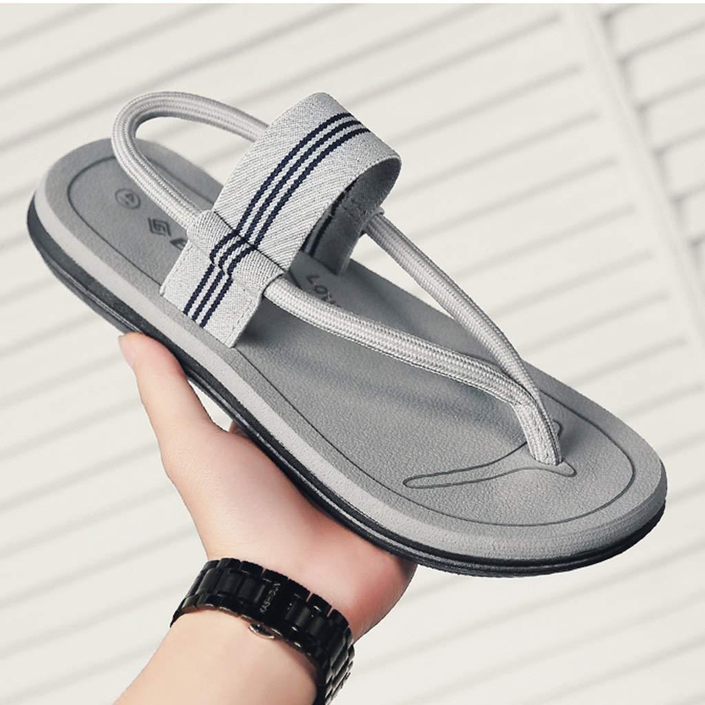 Slippers Sandals Flip Flops Mens Sandals Mens Slippers Summer Wear Fashion Flip Flops Mens Beach Sandals Summer Personality Sandals Outdoor N.Y.L.A Color: Color : Brown, Size : 8.5M US Size: