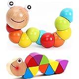 Raupe Spielzeug Buntes Insekt Holzspielzeug Babyspielzeug Kind Lernspielzeug