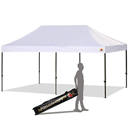 buy online cb073 6b91e ABCCANOPY 10 x 20 Ez Pop-up Canopy Tent Commercial Instant Canopy with  Roller Bag, White
