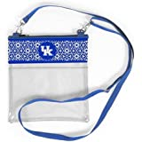 Vegan Leather Trim and Tassels Desden Iowa Hawkeyes Clear Handbag and Wristlet Combo with Logo