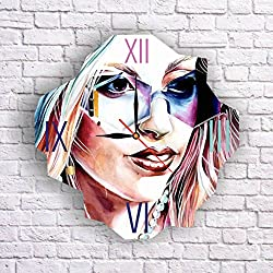 Lady Gaga 11.8'' Original Handmade Wall Clock - Get unique décor for home or office – Best gift ideas for kids, friends, parents and your soul mates