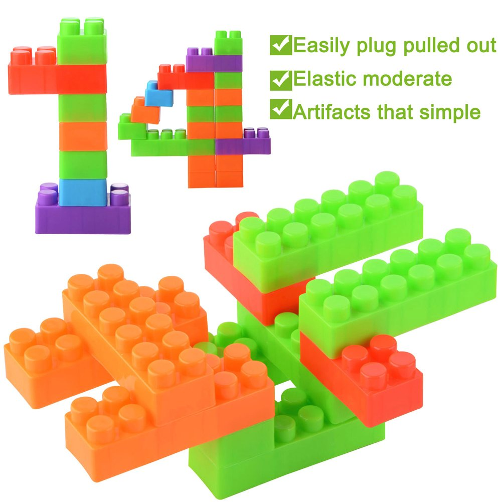 MUITOBOM Building Blocks 160 Pieces Construction Blocks 3D Educational Toy Stacking Set Perfect Toy and Gift for Toddlers and Adults