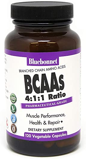 Bluebonnet BCAAS Vitamin Capsules, 120 Count