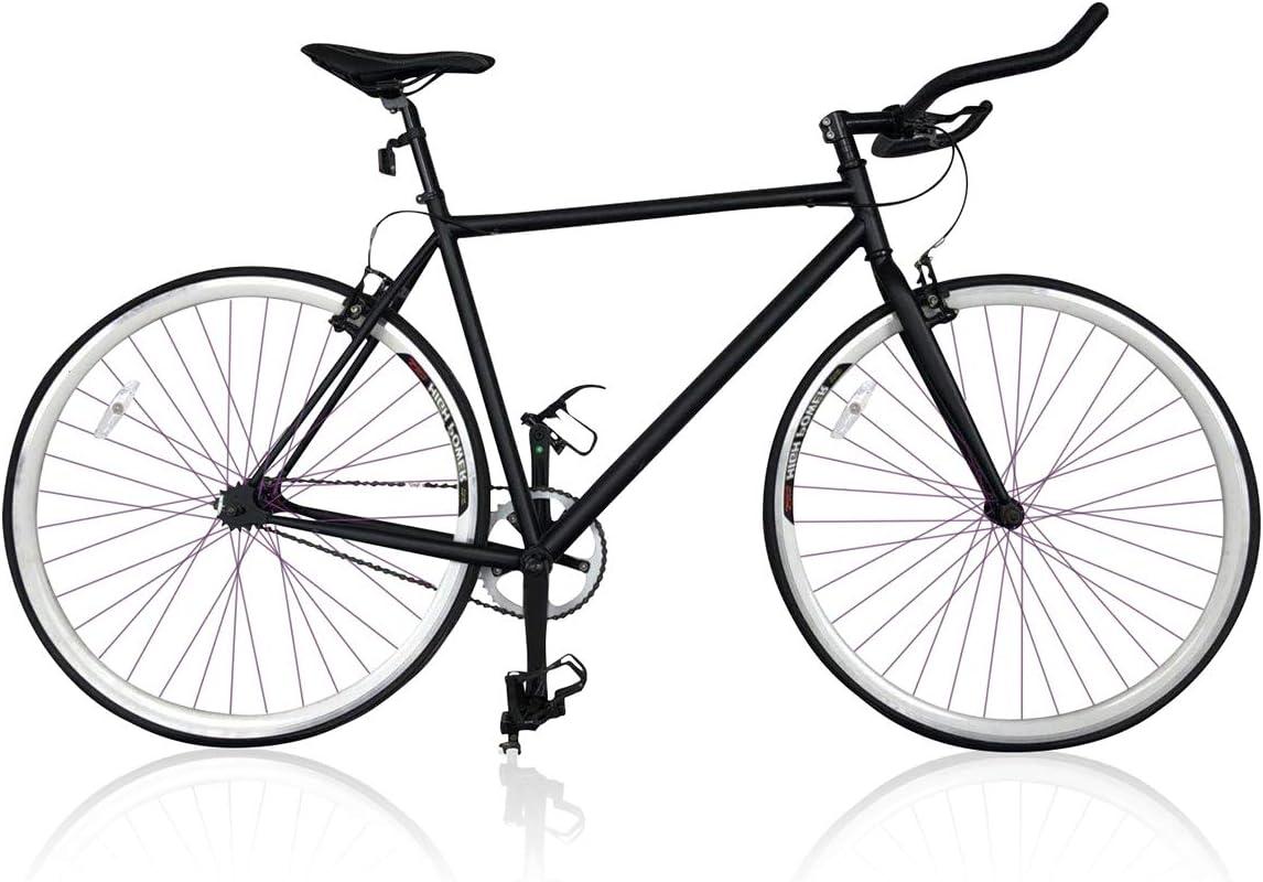 Vip4Vip Bicicleta de Carrera Fixie Negra Cuadro de Acero Rueda 26 ...