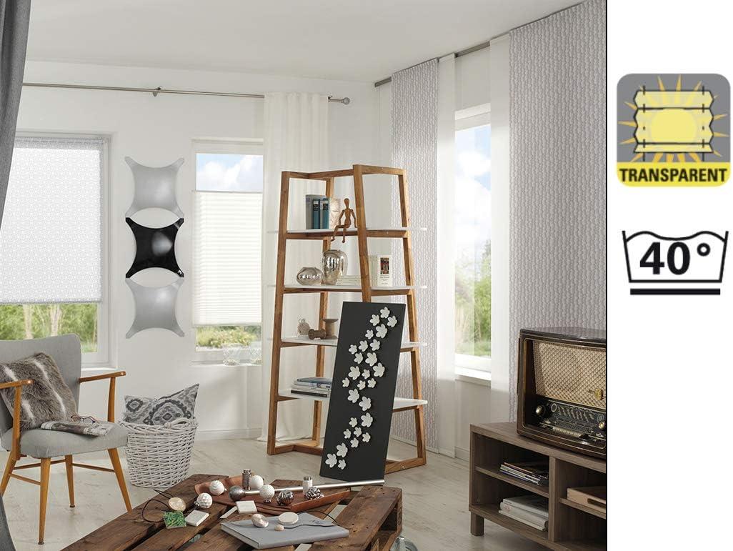 80 x 160 cm Wei/ß Kl/öckner Raffrollo inkl Hasta Collection Montage-Teile