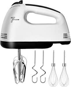 Hand Mixer Electric 2021 Upgrade 7 Speed Mixer Electric Handheld, Kitchen Hand Held Mixer Immersion Blender for Food Whipping,Lightweight Electric Hand Mixer Stainless Steel Egg Whisk Dough Sticks