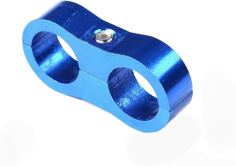 Water Pipe Black Brake Line SUPERFASTRACING 4pcs AN6 Billet Separator Divider Clamp Oil Hose for Fuel Line