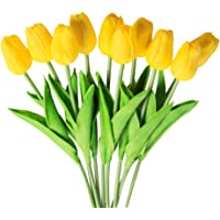 Veryhome 10 unids Tulipanes Artificiales Tulipanes Flores Reales