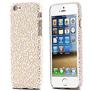 Gold Noble Palace Flora Flower Case for iphone6 Plus 5.5 /i6 4.7 Luxury Soft Leather Flexible Retro Hard Back Cover for iphone 6 --- Color:yellow for iphone 6
