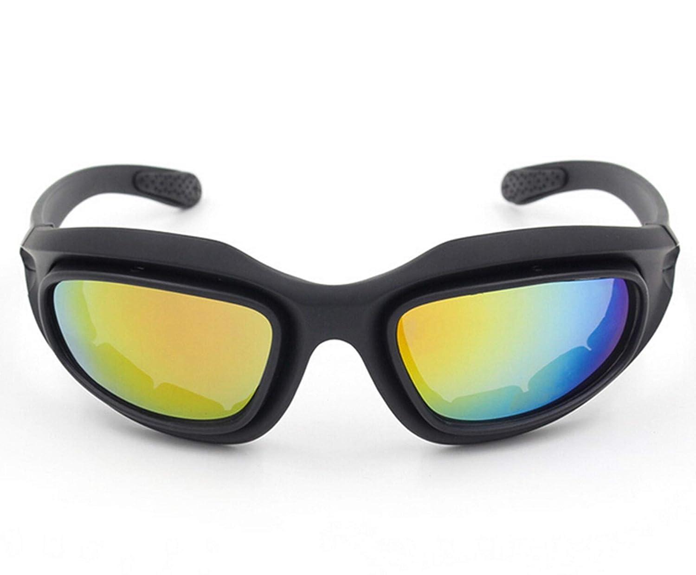 SonMo Motorrad Brille Arbeitsbrille Schneebrille Sportbrille Skibrille Radbrille Snowboardbrille TPU+PC Schwarz Skibrille für Brillenträger Herren Polarisierte Blendschutz mit Uv Schutz Windschutz