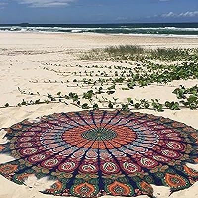 "79/""  Round Mandala Hippie Boho Tapestry Beach Picnic Throw Mat Blanket"