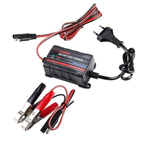 Tirol 6V 12V Cargador de Goteo del Flotador automático de la batería del Coche Indicador LED