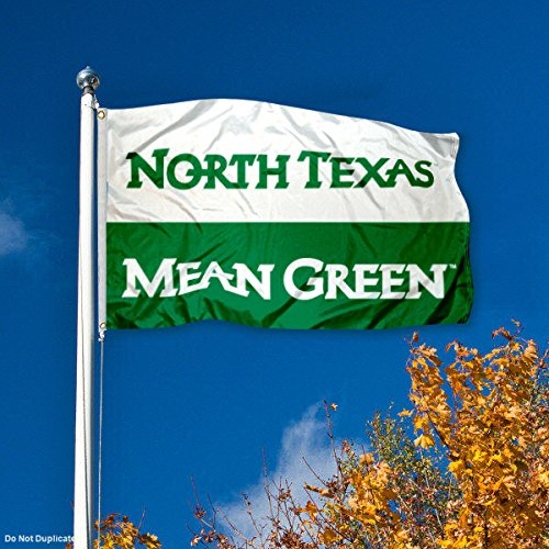 North Texas Mean Green UNT University Large College Flag