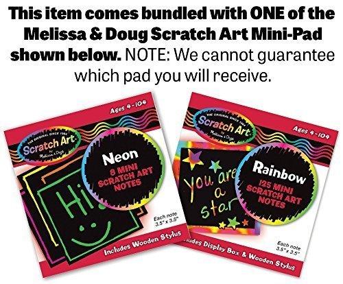 Deluxe Latches Board + FREE Melissa & Doug Scratch Art Mini-Pad Bundle [37853]