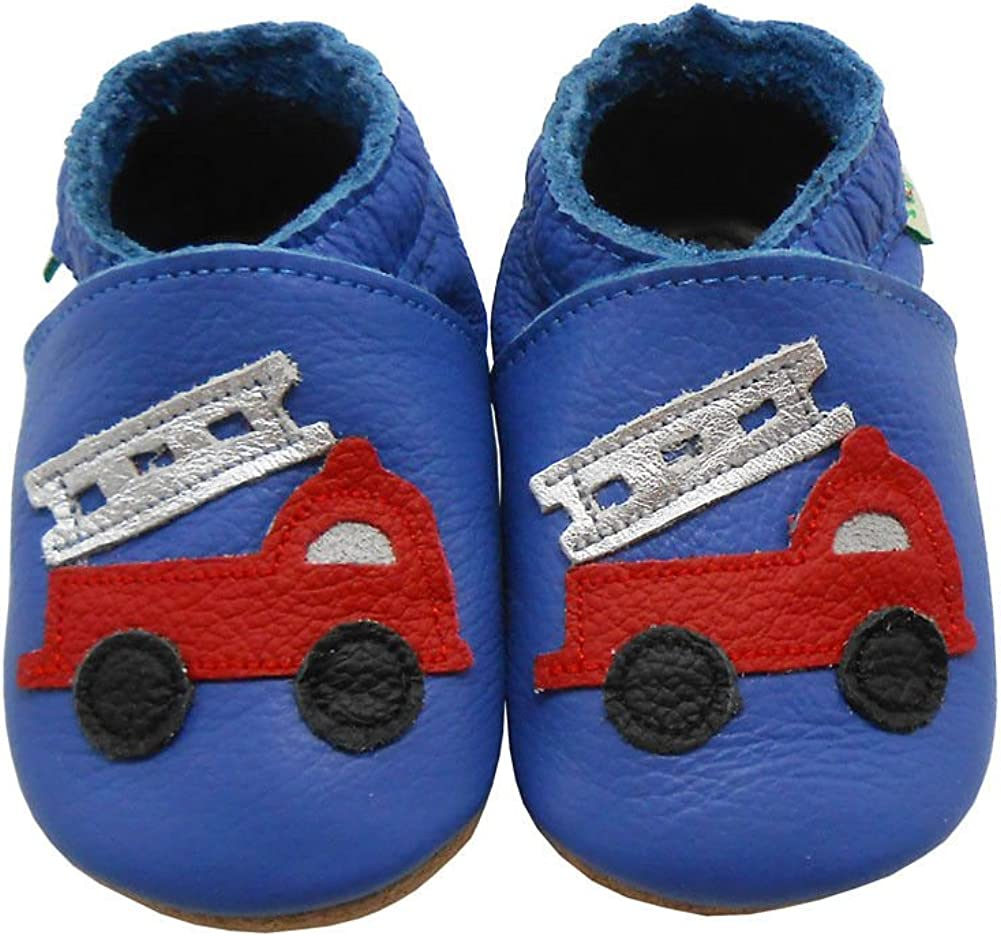 SAYOYO Baby Cute Truck Soft Soled Leather Baby Shoes Baby Moccasins