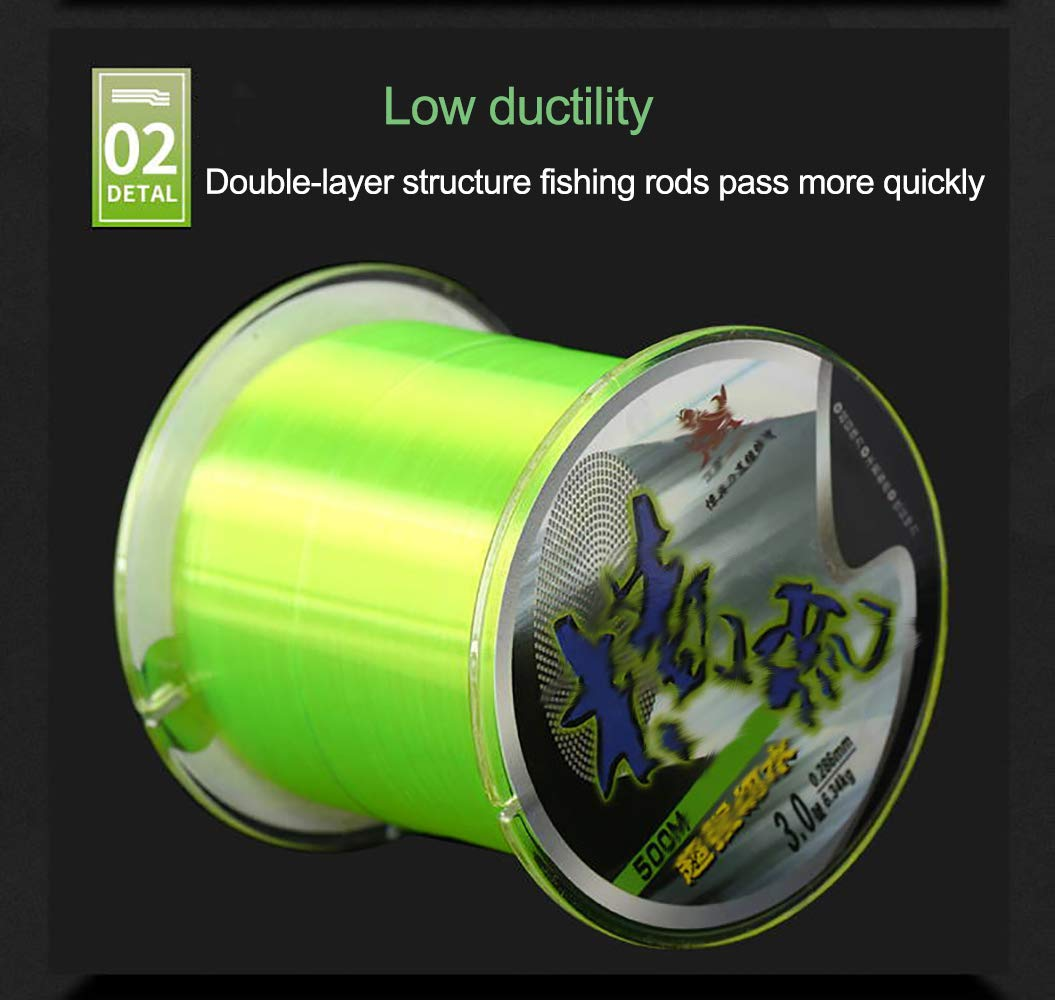 200 Green and White Clear Fishing Lines RONGXIN Woven Nylon Fishing Line two