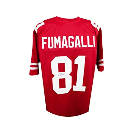Troy Fumagalli Autographed Wisconsin Badgers Custom Red