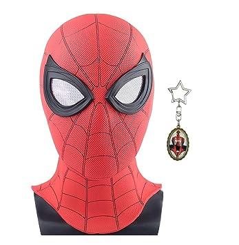 yacn Máscara de Spider-Man Replica para lejos de casa 2019-Led ...