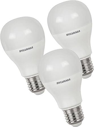 Sylvania syl0027878 – Juego de 3 bombillas LED Toledo GLS 850 Lumen 840, plástico,