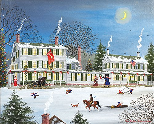 New England Halloween Storm (White Mountain Puzzles Winter Griswold Inn Jigsaw Puzzle - 1000 Piece Jigsaw)
