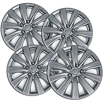 16 inch Hubcaps Best for 2013-2016 Nissan Leaf - (Set of 4) Wheel Covers 16in Hub Caps Silver Rim Cover - Car Accessories for 16 inch Wheels - Snap On ...